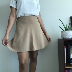 Classic A-Line Beige Skirt